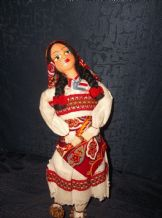 VINTAGE COSTUME DOLL AMERICAN INDIAN OUTFIT & SNAKESKIN MOCCASINS HANDMADE MACHE